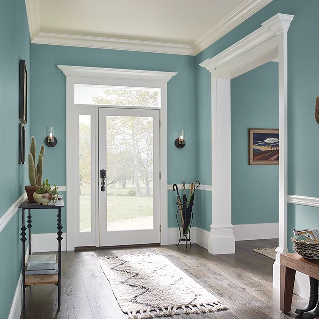 Foyer painted in GREEN CAST
