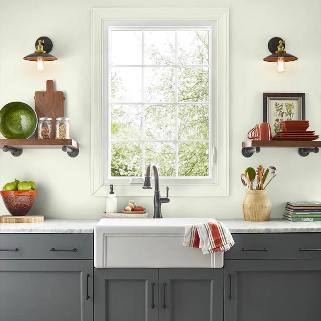 Kitchen painted in WHITE ROCKS
