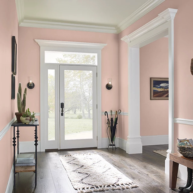 Foyer painted in ARIZONA CLAY