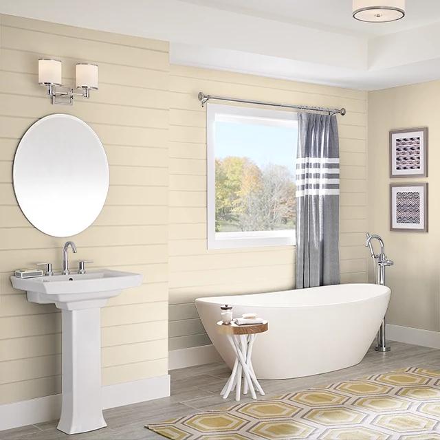 Bathroom painted in YARDS OF MUSLIN