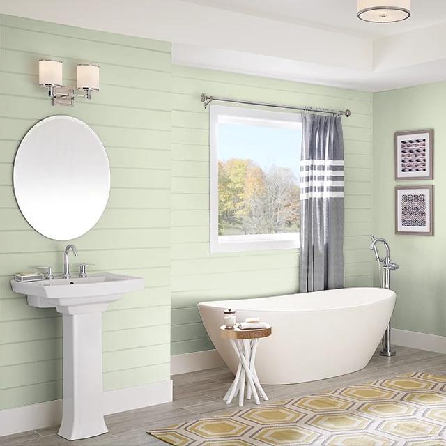 Bathroom painted in CLEAR CREEK