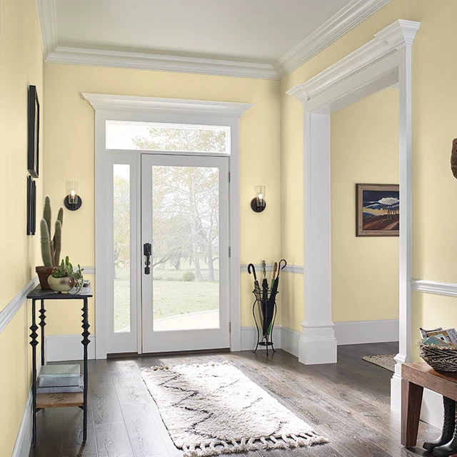 Foyer painted in YELLOW FROSTING