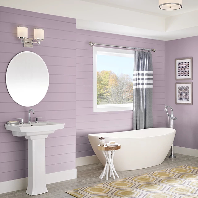 Bathroom painted in MAUVE MELODY