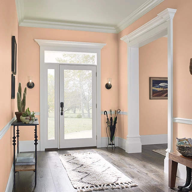 Foyer painted in PETITE PEACH