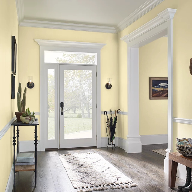 Foyer painted in STICKY NOTE