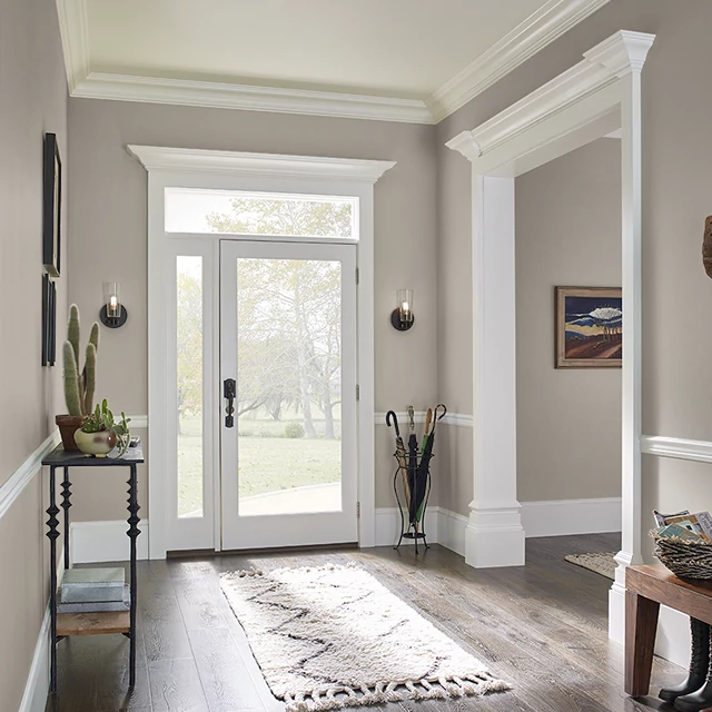 Foyer painted in MOCHA MOUSSE
