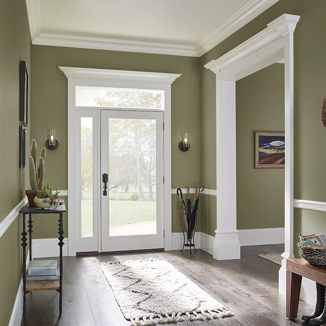 Foyer painted in ANCHORAGE JACKET