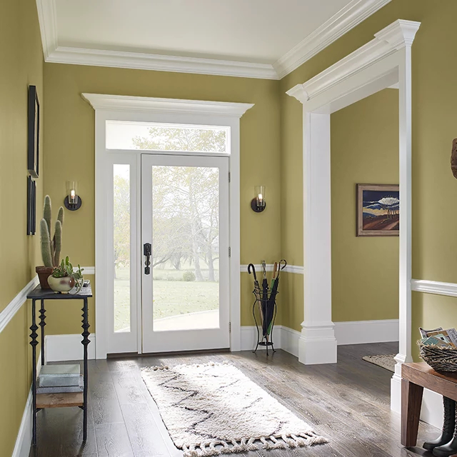 Foyer painted in PICKLING SPICE