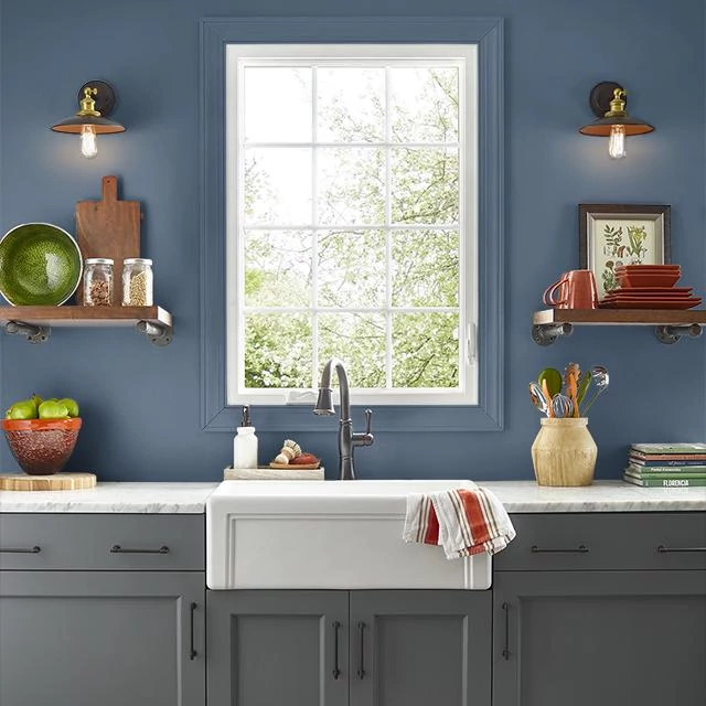 Kitchen painted in SAXOPHONE SOLO