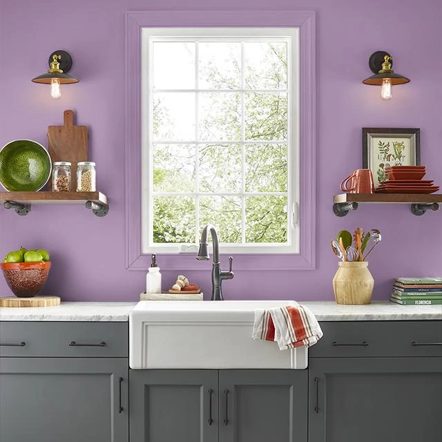 Kitchen painted in FRUIT SMOOTHIE