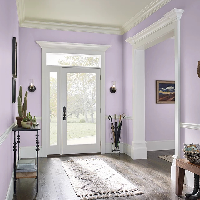 Foyer painted in SWEET SCENT