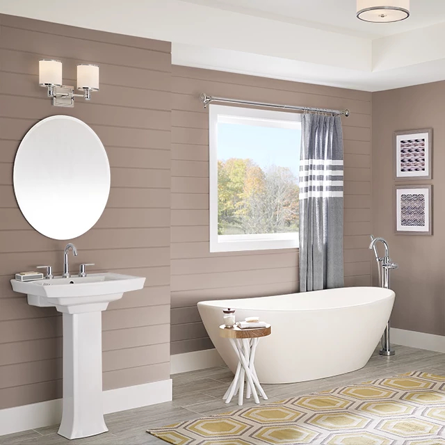 Bathroom painted in SPICED COCOA