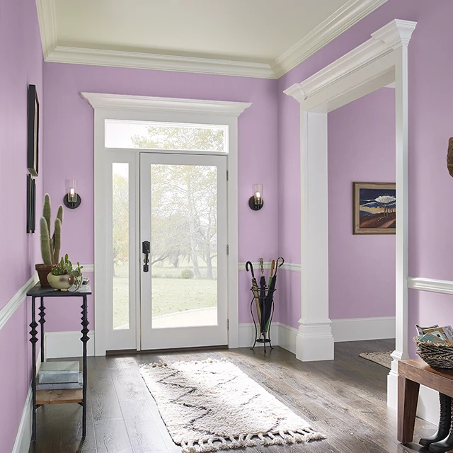 Foyer painted in STRAWBERRY LASSI