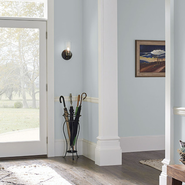 Foyer painted in NORTHERN SKY