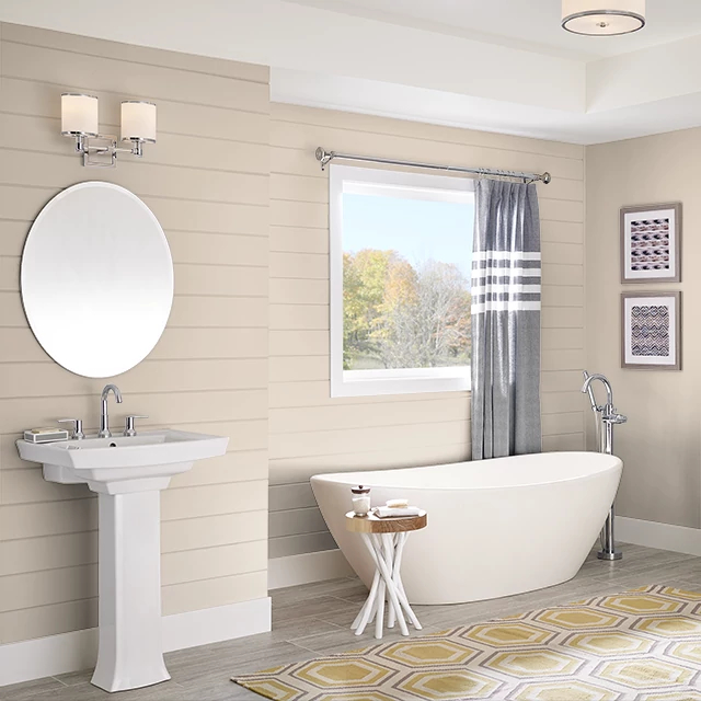 Bathroom painted in ALMOND BISQUE