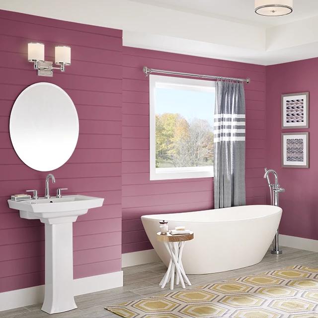 Bathroom painted in POTPOURRI
