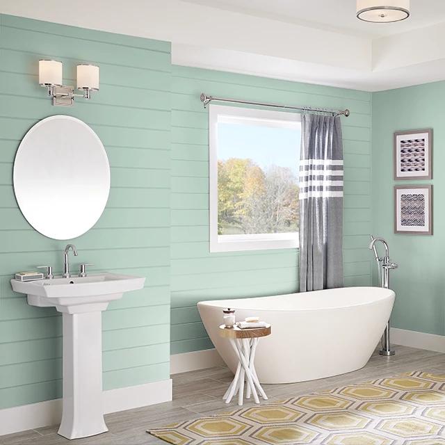 Bathroom painted in BLEACHED CYPRESS