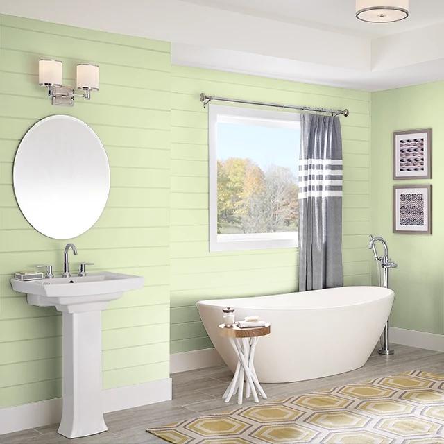 Bathroom painted in GARDEN STATUE