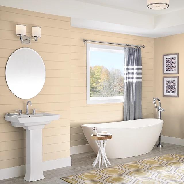 Bathroom painted in BAGEL DOUGH