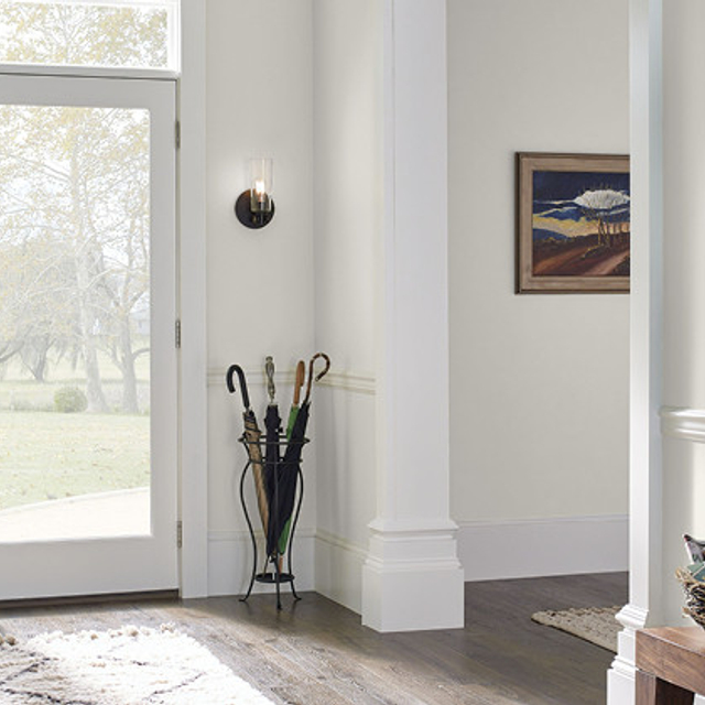Foyer painted in ARCHITECTURAL WHITE