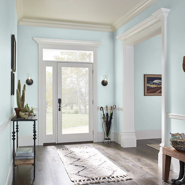 Foyer painted in AQUA ICE