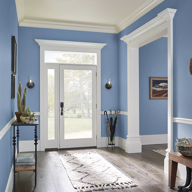Foyer painted in JUST CHILL