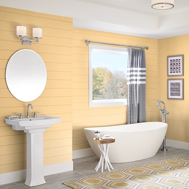 Bathroom painted in GLAZE GOLD