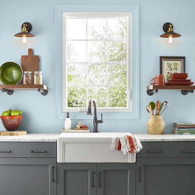 Kitchen painted in SUMMER SHOWER
