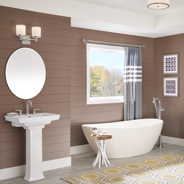 Bathroom painted in MOCHA MADNESS
