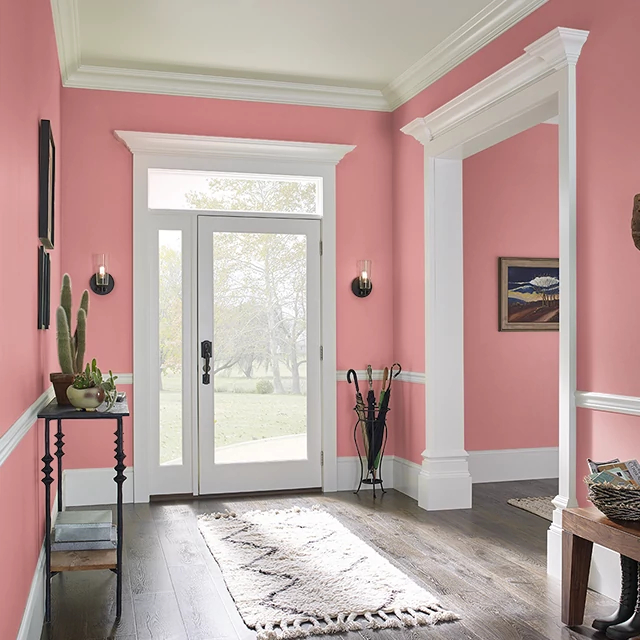 Foyer painted in COOL WATERMELON