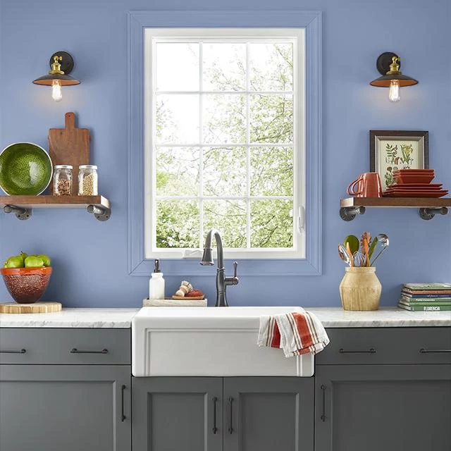 Kitchen painted in REMEMBRANCE