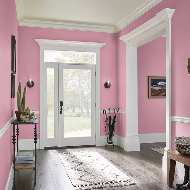 Foyer painted in SINCERITY