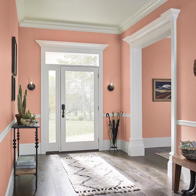 Foyer painted in SWEET PAPAYA