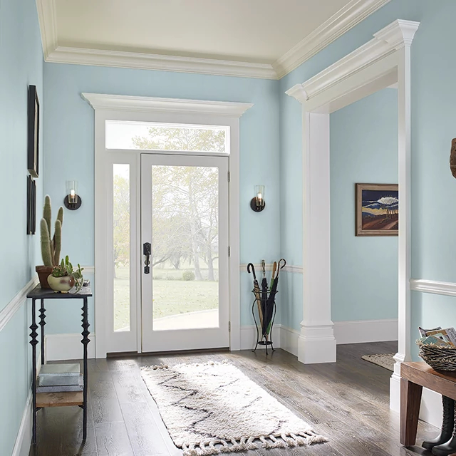 Foyer painted in CHILLY MORNING