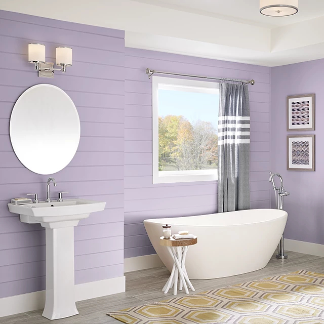 Bathroom painted in SILK SCARF
