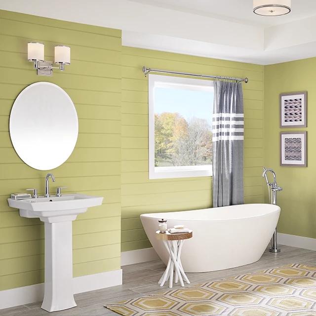 Bathroom painted in WASABI WASH