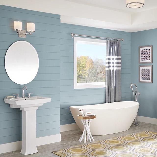 Bathroom painted in ENDLESS RAIN