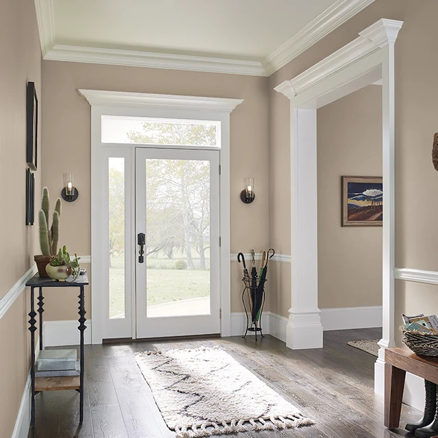 Foyer painted in GONE COUNTRY