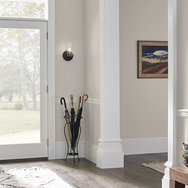 Foyer painted in FLYING DOVE