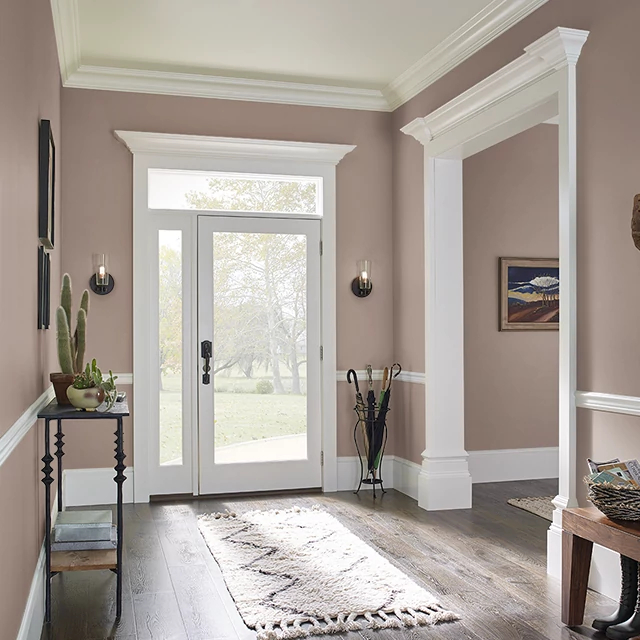 Foyer painted in SPICED COCOA