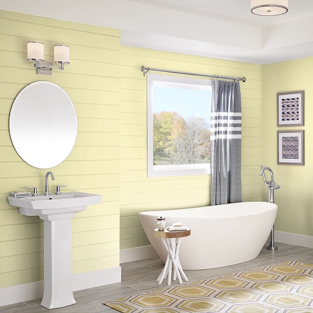 Bathroom painted in LIME SONG
