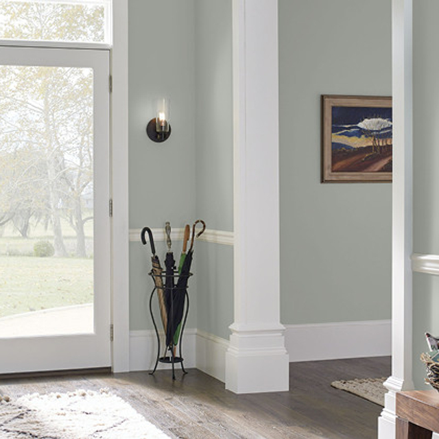 Foyer painted in PATIO GRAY