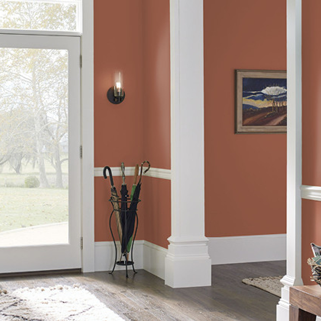 Foyer painted in PENNY LUCK