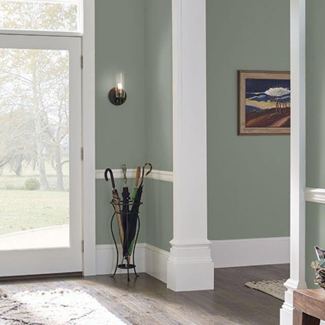 Foyer painted in WEEPING WILLOW