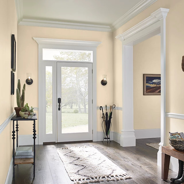 Foyer painted in LACE GLOVES