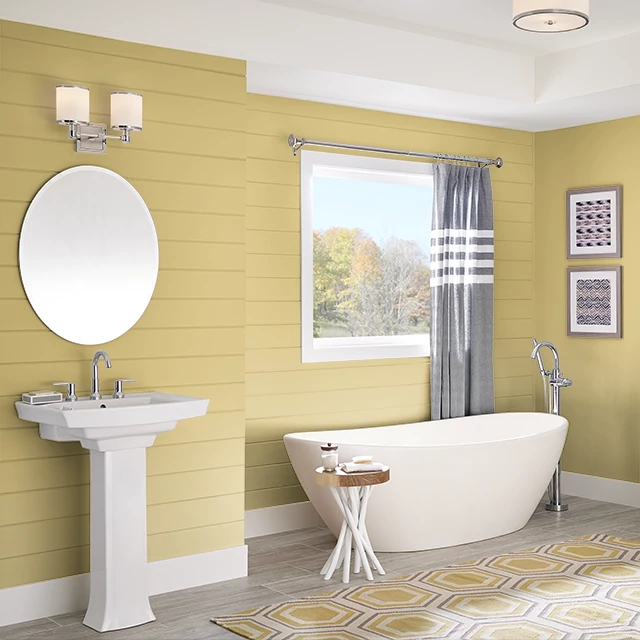 Bathroom painted in TANGY FLAVOR