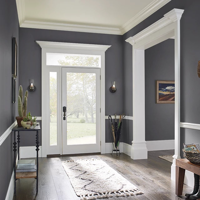 Foyer painted in GRATE BLACK