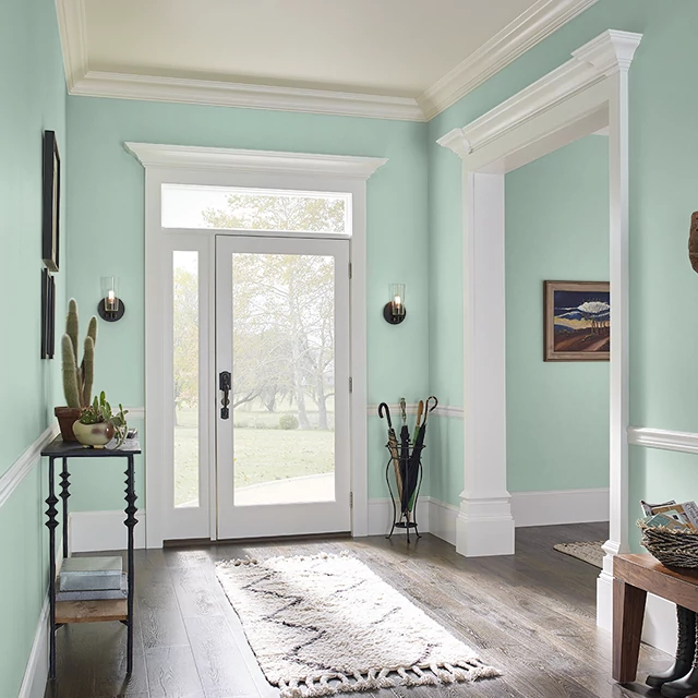 Foyer painted in BLEACHED CYPRESS
