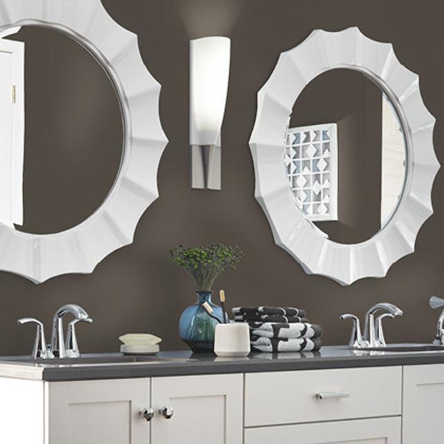 Bathroom painted in BINOCULARS