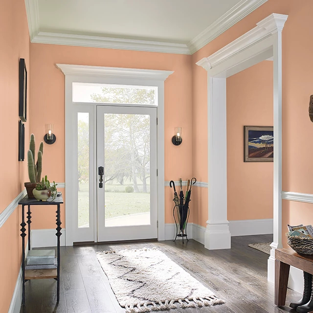 Foyer painted in ORANGE CRUSH